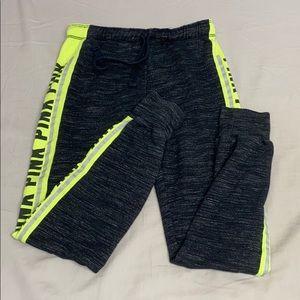 VS pink sweatpants side logo